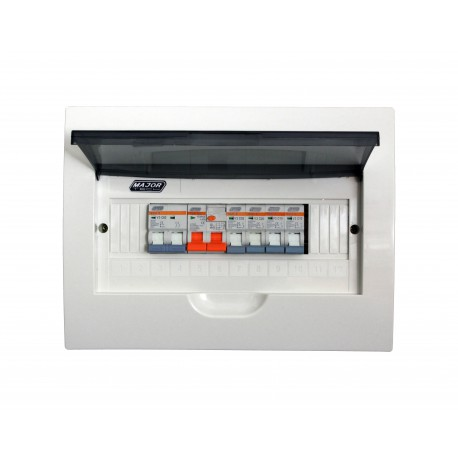 Major Tech 12 Way Populated Flush Mount Distribution Board