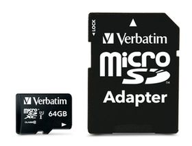 Verbatim 64 GB Premium 300x Micro SD Card with Adapter