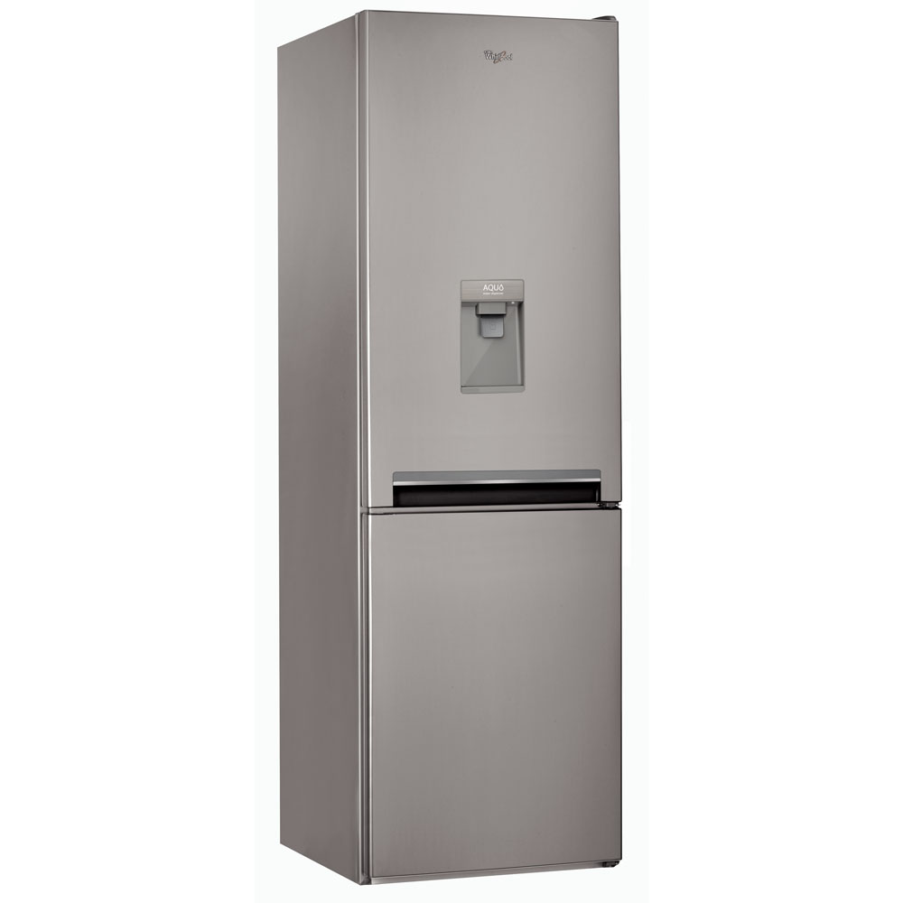 Whirlpool Supreme NoFrost Combi Fridge and Freezer: BSNF 8101 0X Aqua with Water Dispenser