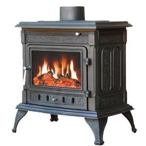 Megamaster Conza Cast Iron Fireplace – Black