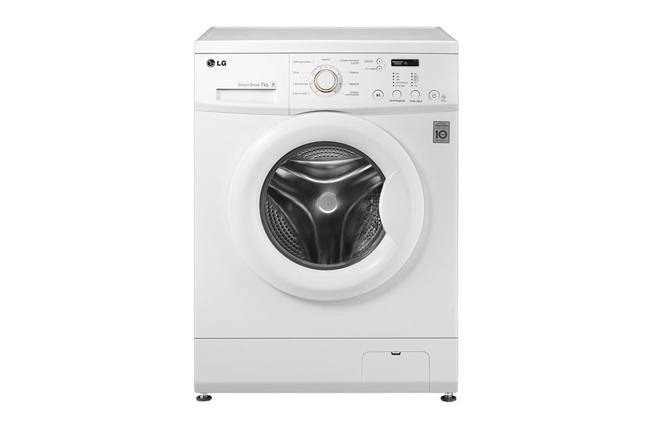LG 7kg White Front Load Washing Machine: F10C3QDP2