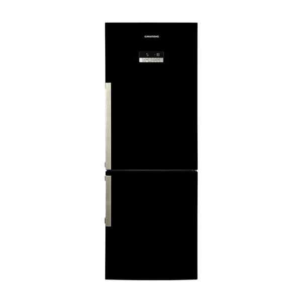 Grundig Black Glass Bottom Mounted Freezer: GKN 16820 GB
