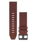 Garmin QuickFit 22mm Leather Watch Band - Brown