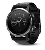 Garmin Fenix 5S Silver Smartwatch with Black Band