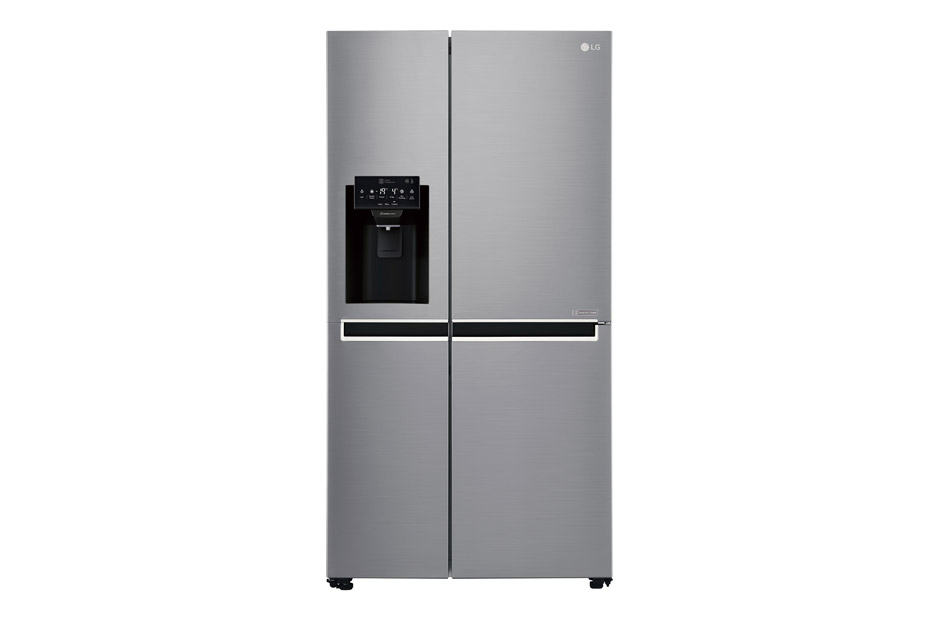 LG 600L Platinum Silver Side by Side Refrigerator with Mega Capacity