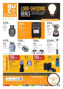 Buco : Load- Shedding Deals (30 March - 31 July 2021)