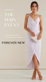 Forever New : The Main Event Lookbook (07 Oct 2019 - While Stocks Last)