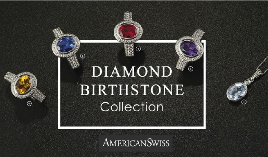 American Swiss Diamond Birthstone Collection 19 Feb 31