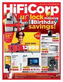 HiFi Corp : Massive Birthday Savings! (24 September - 30 September 2020)