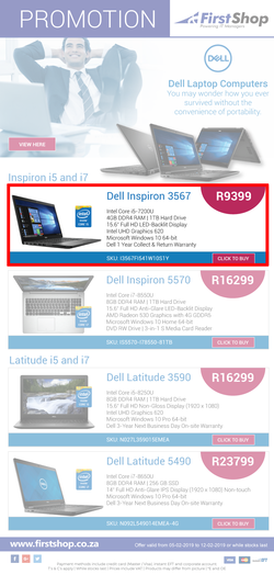 First Shop : Dell Promotion (5 Feb - 12 Feb 2019), page 1