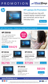 First Shop : HP Laptop Promo (19 Feb - 28 Feb 2019)