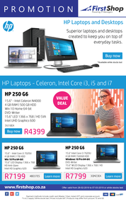 First Shop : HP Laptops And Desktops Promo (28 Feb - 7 Mar 2019)