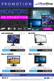 First Shop : Monitors Promotion (5 Mar - 12 Mar 2019)