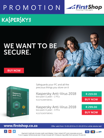 First Shop : Kaspersky Promo (15 May - 31 May 2018)