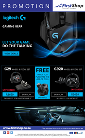 First Shop : Logitech Promotion (29 May - 15 June 2018)
