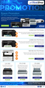 First Shop : Epson Promotion (19 May - 26 May 2020)