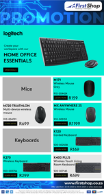 First Shop : Logitech Promo (22 May - 28 May 2020)