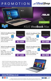 First Shop : Asus VivoBook Max (14 June -  28 June 2018)
