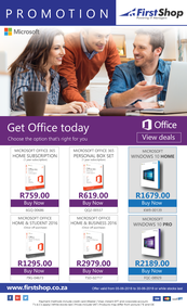 First Shop : Microsoft Promotion (5 June - 30 July 2018)
