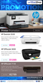 First Shop : HP Printer Promo (18 June - 25 June 2020)