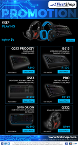 First Shop : Logitech Promo (11 June - 18 June 2020)