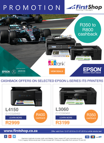 First Shop : Epson Promotion (12 July - 31 July 2018)