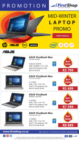 First Shop : Mid-Winter Laptop Deals (17 July - 31 July 2018)