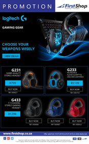 First Shop : Logitech Promotion (10 July - 24 July 2018)