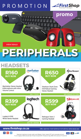 First Shop : Peripherals Promo (19 July - 31 July 2018)