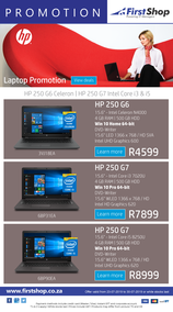 First Shop : HP Laptop Promo (23 July - 30 July 2019)