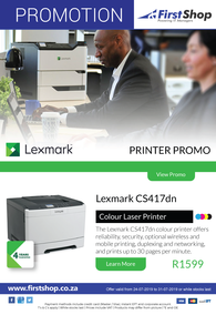 First Shop : Lexmark Printers Promo (24 July - 31 July 2019)