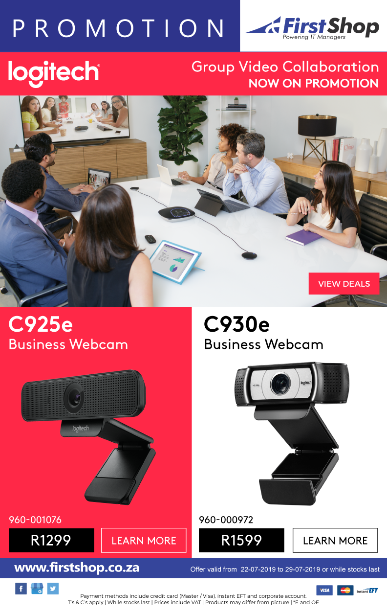 First Shop : Logitech VC Promo (22 July - 29 July 2019) — www guzzle