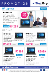 First Shop : HP Laptop Promotion (7 Aug - 31 Aug 2018)