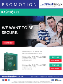 First Shop : Kaspersky Promotion (14 Aug - 31 Aug 2018)