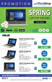 First Shop : Spring Laptop Promo (30 Aug - 6 Sept 2018)