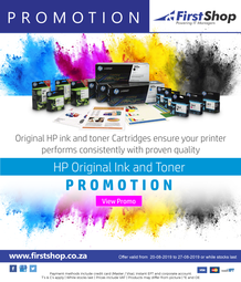 First Shop : HP Ink & Toner Promo (20 Aug - 27 Aug 2019)