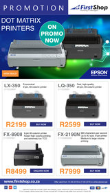 First Shop : Epson Dot Matrix Printers (13 Sept - 27 Sept 2018)