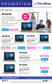 First Shop : HP Laptop Promotion (11 Sept - 30 Sept 2018)