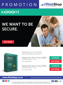 First Shop : Kaspersky Promotion (4 Sept - 30 Sept 2018)