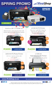 First Shop : Epson Promo (5 Sept - 12 Sept 2019)