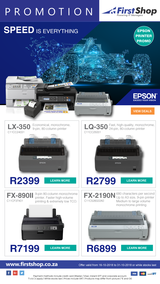 First Shop : Epson Printers (16 Oct - 31 Oct 2018)