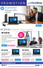 First Shop : HP Laptop Promo (16 Oct - 23 Oct 2018)
