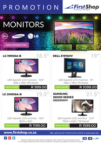 First Shop : Monitor Promotion (2 Oct - 10 Oct 2018)
