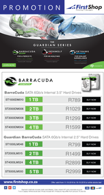 First Shop : Seagate Promotion (11 Oct - 18 Oct 2018)