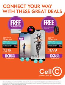 Cell C : Connect Your Way With These Great Deals (1 May - 31 May 2018)