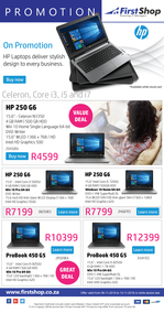 First Shop : HP Laptop Promo (6 Nov - 13 Nov 2018)