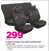 Stingray 6 Piece Floral Car Seat Cover Pink FLORAL PINK