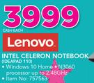 Lenovo Intel Celeron Notebook IDEAPAD 110-Each