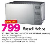 Russell Hobbs 20Ltr Electronic Microwave Mirror RHEM21L
