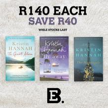 Exclusive Books : Selected Kristin Hannah Titles (1 August 2020 - 31 August 2020)